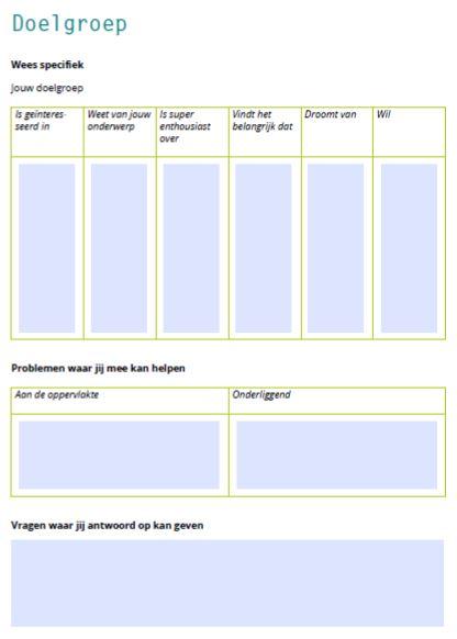 marketingplan communicatieplan doelgroep